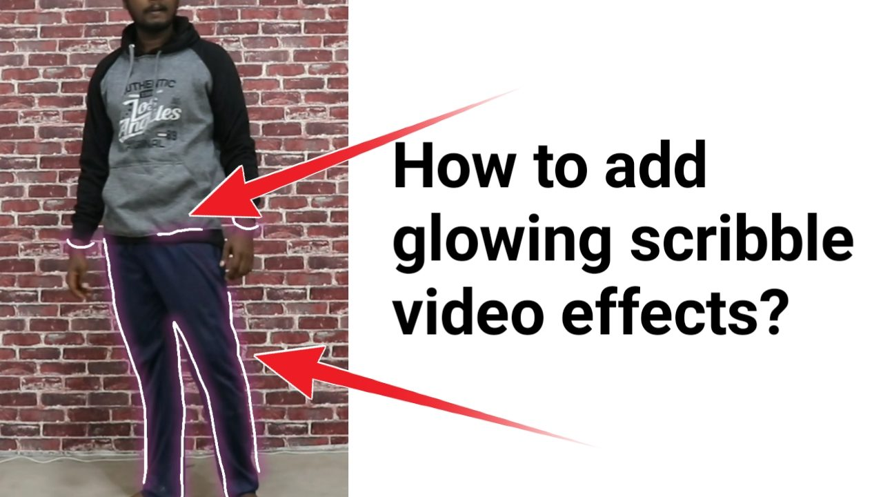 How to create a glowing scribble animation video or how to add glowing scribble effects to our video