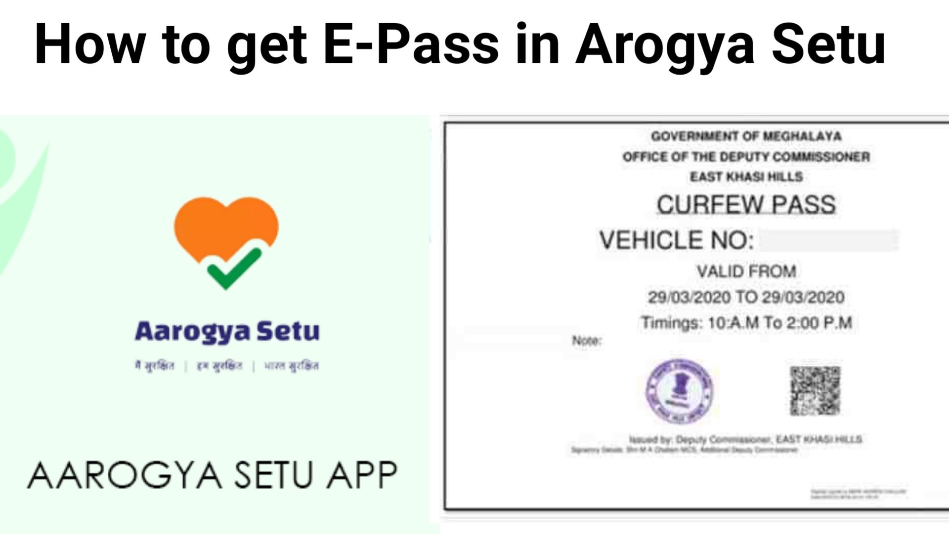 How to get e pass in arogya Setu app
