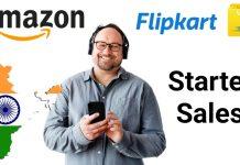 Flipkart and amazon started sales,flipkart,amazon,sales,flipkart started delivery,amazon started delivery, Kannada tech news, flipkart news,amazon news,