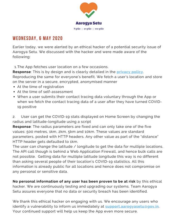 Aarogya Setu app vulnerable,data breach,data leak, vulnerability,aarogya Setu issue, aarogya Setu app news, Elliott Alderson Tween,arogya Setu news twitter, aarogya Setu app is not safe, Indian government, prime minister Narendra Modi, aarogya Setu app data leak,arogya Setu issue news, arogya Setu today news,Rahul Gandhi arogya Setu issue, Elliott Alderson arogya Setu issue, arogya Setu app today news, Elliott Alderson tweet about aarogya Setu app,