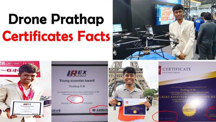 Drone Prathap certificates real or fake