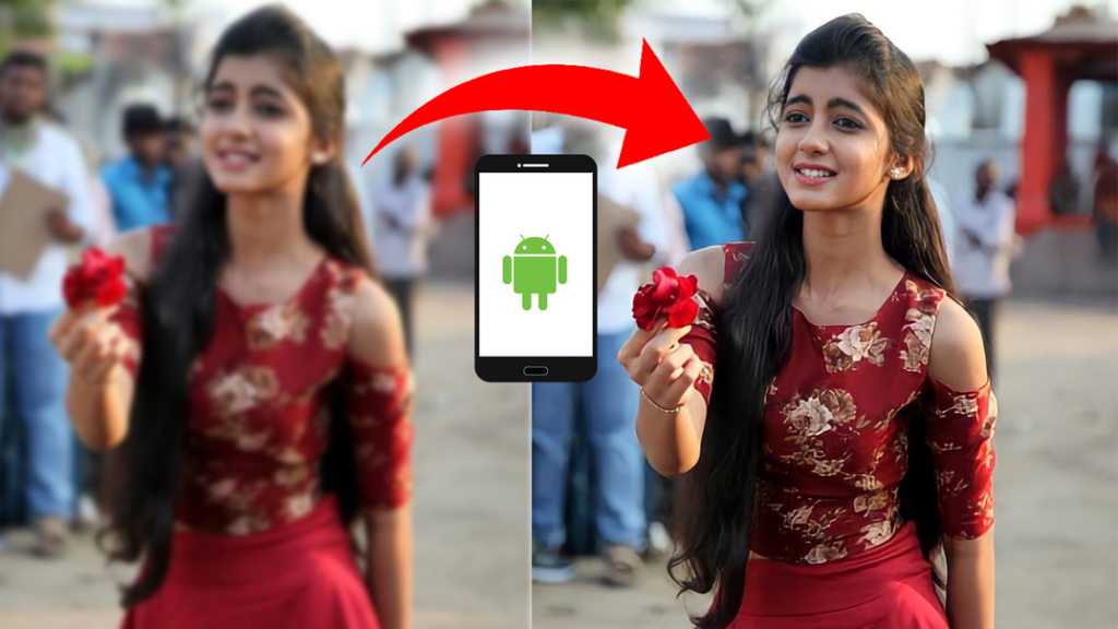 How to Convert Blurred Image to High Quality in Android App