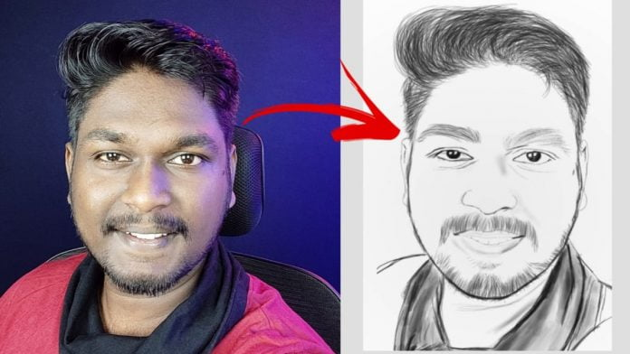 photo to sketch app, photo drawing app, convert photo to line drawing app, drawing photo app, photo sketch, photo to sketch,